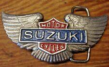 SUZUKI MOTORCYCLES BELT BUCKLE SILVER COLOR WING ED S VINTAGE KZ ZX KH H1 H2 VZ