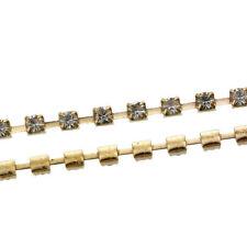 Collane e pendagli di bigiotteria in oro con strass