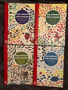 Chick-fil-A: SET 4: My Nature Sticker Activity Books GARDEN ANIMALS OCEAN FOREST