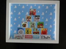 CLASSIC TOYS 1st CLASS STAMPS BY THE ROYAL MAIL PRESENTED IN A WHITE FRAMED