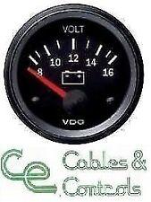 Cockpit Vision VDO Voltmeter, 12volt, 52mm 2 inch 8 - 16v 332010004 Volt Meter