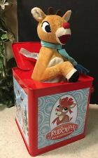 CHRISTMAS RUDOLPH THE RED NOSED REINDEER POP UP JACK IN THE BOX WITH MUSIC