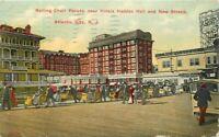 Atlantic City New Jersey Rolling Chari Parade Hotels Postcard Koffman 21-840