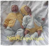 """Honeydropdesigns * OCEAN * PAPER KNITTING PATTERN * 16"""" Reborn/Preemie"""