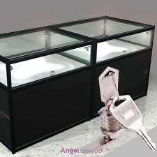 Display Case Showcase Sliding Glass Cabinet Door Cam Lock + 2 Security Keys