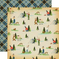 "Carta Bella THE GREAT OUTDOORS ""LET'S CAMP"" 12x12 Paper 2 sheets"