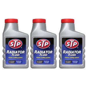3 x STP Radiator Flush Car Cooling System Rad Cleaner Unblocker Rust Remover