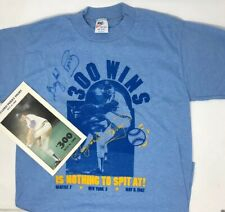 Vintage Made In USA Nike T-Shirt Gaylord Perry Autographed 300 Game Win Spit At
