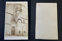 France, hospice de Beaune Vintage albumen print CDV.  Tirage albuminé  6,5x1