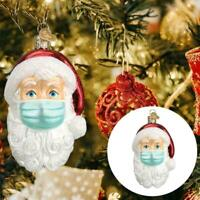 1pc Santa Wearing a Mask in 2020 Ornament Christmas Tree Hanging Pendant