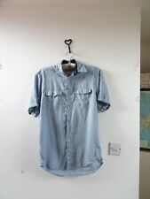 Angelo Litrico for C&A pure linen pale blue short sleeve mans shirt  size S