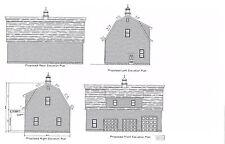 50' x 30' - Garage Plans Gambrel Roof 4 car garge Plan # 17-3050Gmb-1