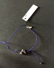 Marc By Marc Jacobs Tiny Friendship Bracelet Charms Cosmic Purple Silver Tone