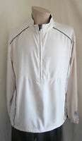 NEW AHEAD EXTREME NANOTEX PERFORMANCE BEIGE 1/2 ZIP GOLF WINDBREAKER L LARGE