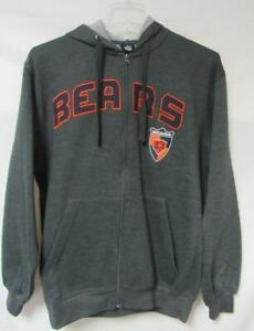 Chicago Bears Mens Size Medium Full Zip Hoodie Sweatshirt A1 1584