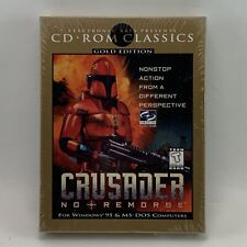 1997 Crusader No Remorse Gold Edition PC CD-ROM Video Game New in Sealed Box EA