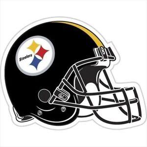 """Pittsburgh Steelers NFL Helmet 12"""" Team Magnet"""