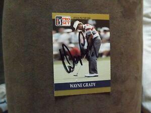 1990 Pro Set PGA Tour Wayne Grady Autographed Card