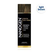Nanogen Thickening Hair Fibres Light Brown 30g 2 months supply Natural Keratin