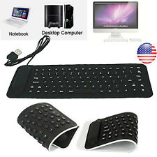 USB Mini Flexible Silicone Keyboard Foldable Keyboard For PC Laptop Notebook NEW