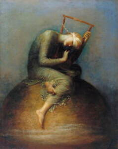 George Frederic Watts Hope Giclee Art Paper Print Paintings Poster Reproduction