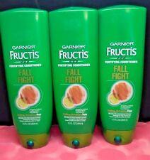 3 x Garnier Fructis Fall Fight Fortifying Conditioner 13 fl oz