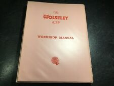 1959-1961 Wolseley 6/99 Official Factory Workshop Manual Ado10 Pininfarina 2.9L