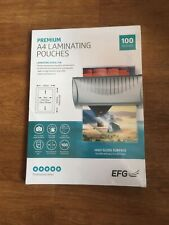 More details for 100 x a4 laminating pouches gloss laminator laminate sheets sleeves 150 microns*