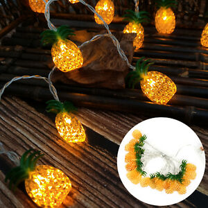 20LED Pineapple Tropical Summer String Light Outdoor Pool Party Patio Waterproof