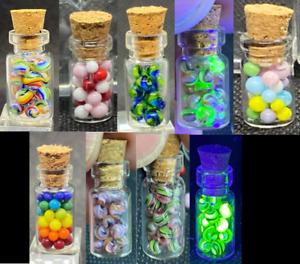 "10 STUCKENBERG GLASS MICRO MARBLE SET/.117""-MICRO-STUCKENBERG SAMPLER-RAINBOW,UV"