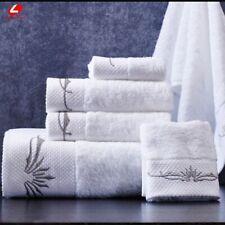 Summer White Towel Set Egyptian Cotton Big Size Bath Face Hand Beach Towel 3pcs