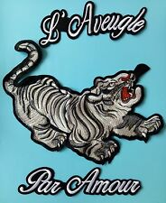 """3pcs/set Large White Tiger  Motorcycle Embroidered patch Sew on Decoration 11"""""""