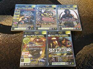 Official Xbox Magazine Demo Disc Lot Of 5 (Microsoft Xbox, 2005)