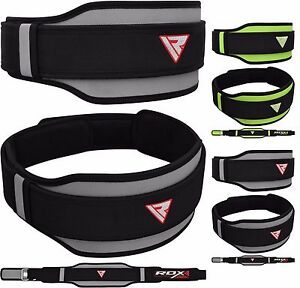 RDX BodyBuilding Weight Lifting Fitness Gym Neoprene Double Back Support Belt AU