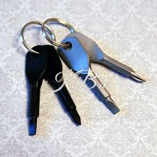 Mini Portable Outdoor Tools Screwdriver Set Stainless Steel Keychain Key Ring