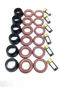 FUEL INJECTOR REPAIR KIT O-RINGS FILTERS PINTEL CAP ISUZU HONDA 3.2L 3.5L V6