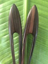 SET OF 2: Handmade 2 prongs Classic Wooden Wood HAIR PIN FORK PICK STURDY.NEW