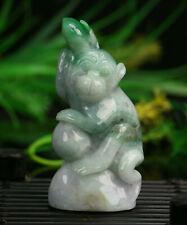 Cert'd Green Natural 2 Color A Jade jadeite Sculpture Statue monkey a369622
