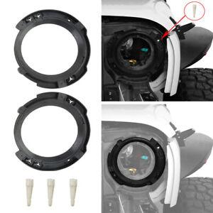 "7"" Headlight Replacement Mount Bracket Rings for 2007-2018 Jeep Wrangler JK Pair"