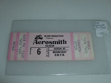 VINTAGE CONCERT TICKET AEROSMITH STEVEN TYLER  COLISEUM JACKSON MS DEC 6 1978