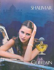 ▬► PUBLICITE ADVERTISING AD PARFUM PERFUME GUERLAIN Shalimar 1985