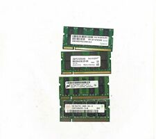 lot 4 x 2GB SODIMM PC2-5300S laptop ram Random Brand (see picture)