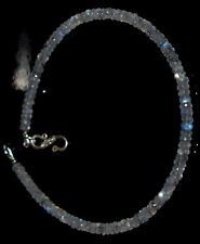 "Rainbow Moonstone Gemstone 4-4.5mm Beads 925 Sterling Silver 7"" Bracelet FDVD122"