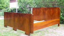 Art Deco Double Bed. Super king size Sleigh Bed. 1920s Vintage Antique Walnut