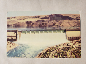 Vintage Postcard - Grand Coulee Dam # 404 - Security Lithograph
