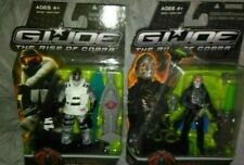 GI JOE THE RISE OF COBRA LOT OF 2 FIGURES....COBRA COMMANDER & ICE VIPER