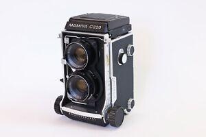 Mamiya C220 Professional 6x6 TLR Camera w/ Mamiya-Sekor 80mm f/3.7 Lens READ!