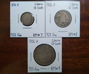 Liberia Full Silver Coin Set from 1896-1906