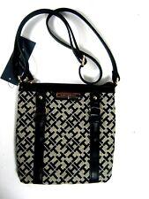 Tommy Hilfiger TH Womens Crossbody Shoulder Bag Purse Xbody Black New NWT