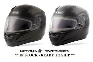 GMAX MD-04S Modular Helmet Snowmobile Full Face Dual Pane Or Electric Shield